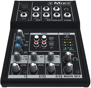 mackie mix5 5 channel mixer
